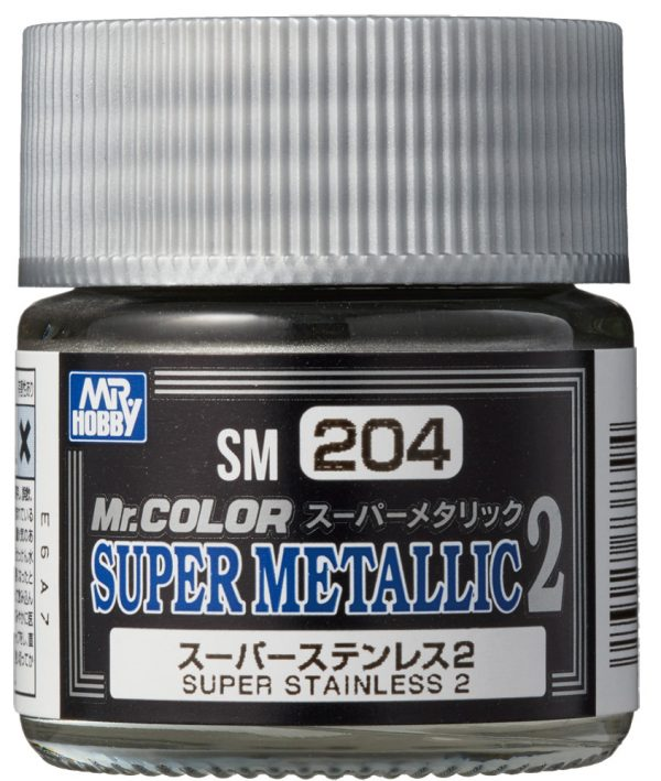 Mr Color Super Metallic 2 Super Stainless Steel 2 SM204