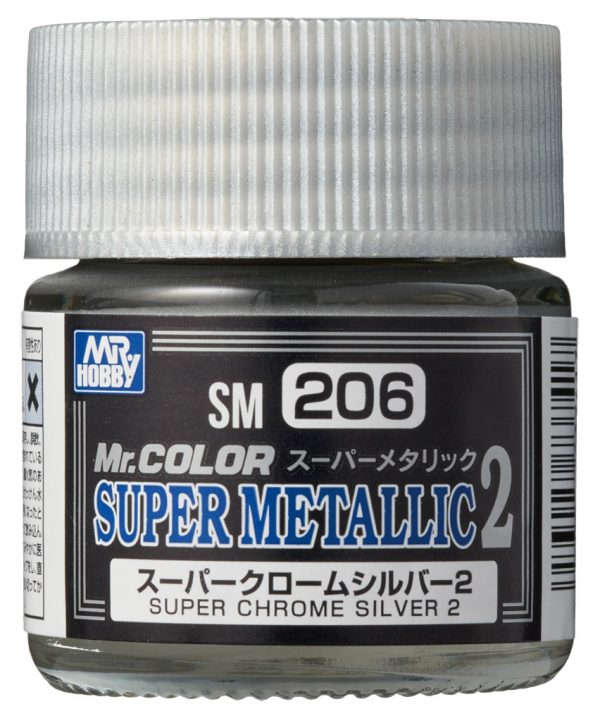 Mr Color Super Metallic 2 Super Chrome Silver 2 SM206