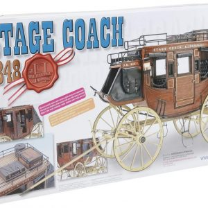 Artesania Latina 1848 Stage Coach Kit 1/10 Scale 20340