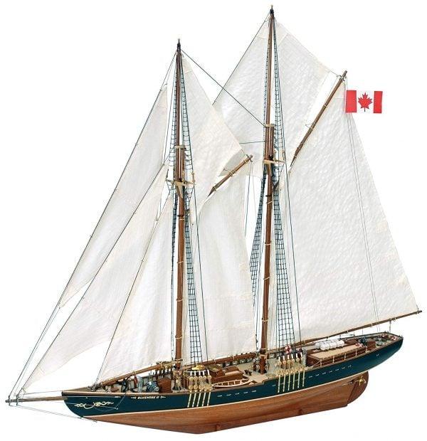 completed Artesania Latina Bluenose II Ship Kit 1/75 Scale 22453