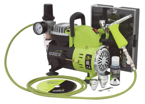 Grex GCK03 Airbrush Combo Kit with Tritium.TG3 AC1810-A Compressor Accessories