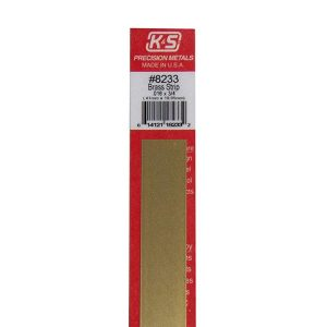 "0.016 x 3/4 x 12"" Brass Strip K&S Engineering 8233"