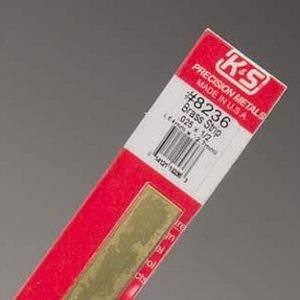 "0.025 x 1/2 x 12"" Brass Strip K&S Engineering 8236"
