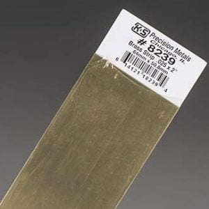 "0.025 x 2 x 12"" Brass Strip K&S Engineering 8239"