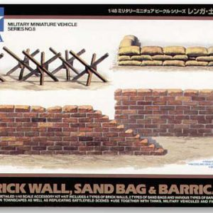 Tamiya Brick Wall Sand Bag and Barricade Set 1/48 32508