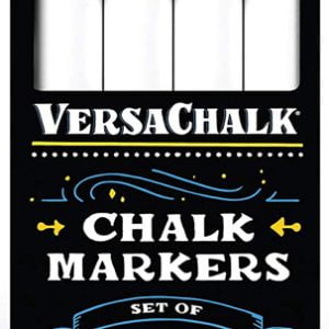 Versachalk White Liquid Chalk Markers 4 Pack Bold Tip VC101-B4