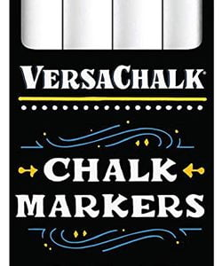 Versachalk White Liquid Chalk Markers 4 Pack Fine Tip VC101-F4