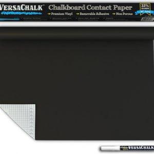 Versachalk Chalkboard Contact Paper and Bonus Chalk Marker 18x96 inches VC105-RG