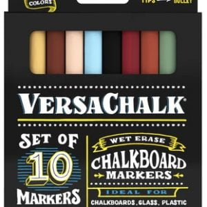 Versachalk Chalk Markers Classic Colors 10 Pack Fine Tip VC106-F
