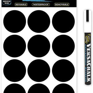 Versachalk 72 Round Chalkboard labels 2.5 inches Wide VC104-WD2