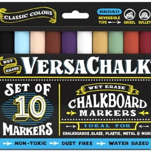 Versachalk Chalk Markers Classic Colors 10 Pack Bold Tip VC106-B