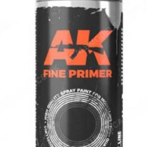 AK Interactive Spray Can Fine Primer Black AKI 1040