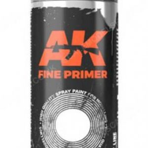 AK Interactive Spray Can Fine Primer Grey AKI 1041