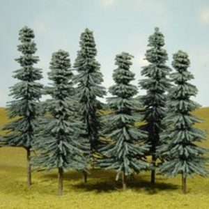 "Bachmann 5"" - 6"" Blue Spruce Trees Box of 6 HO Scale 32012"