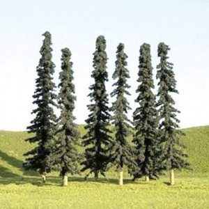 "Bachmann 3"" - 4"" Conifer Trees Box of 9 N Scale 32103"