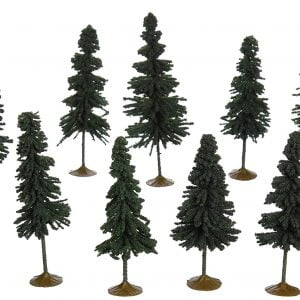 "Bachmann 3"" - 4"" Spruce Trees Box of 9 N Scale 32104"