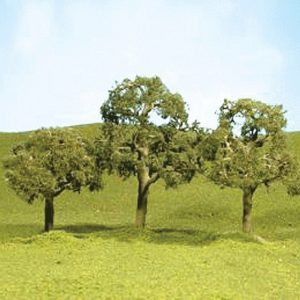 "Bachmann 2"" - 2.25"" Deciduous Trees Box of 4 N Scale 32107"