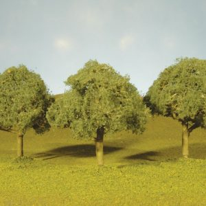 "Bachmann 2.25"" - 2.5"" Oak Trees Box of 4 N Scale 32113"