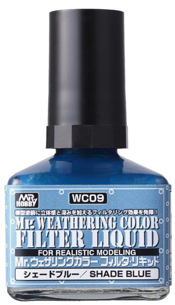 Mr Weathering Color Filter Liquid Shade Blue WC09