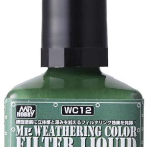 Mr Weathering Color Filter Liquid Shade Face Green WC12