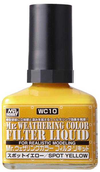 Mr Weathering Color Filter Liquid Shade Spot Yellow WC10