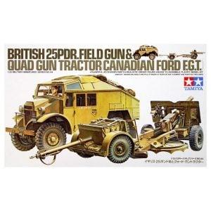 Tamiya British 25 Pndr Gun and Quad Tractor 1/35 Scale 35044
