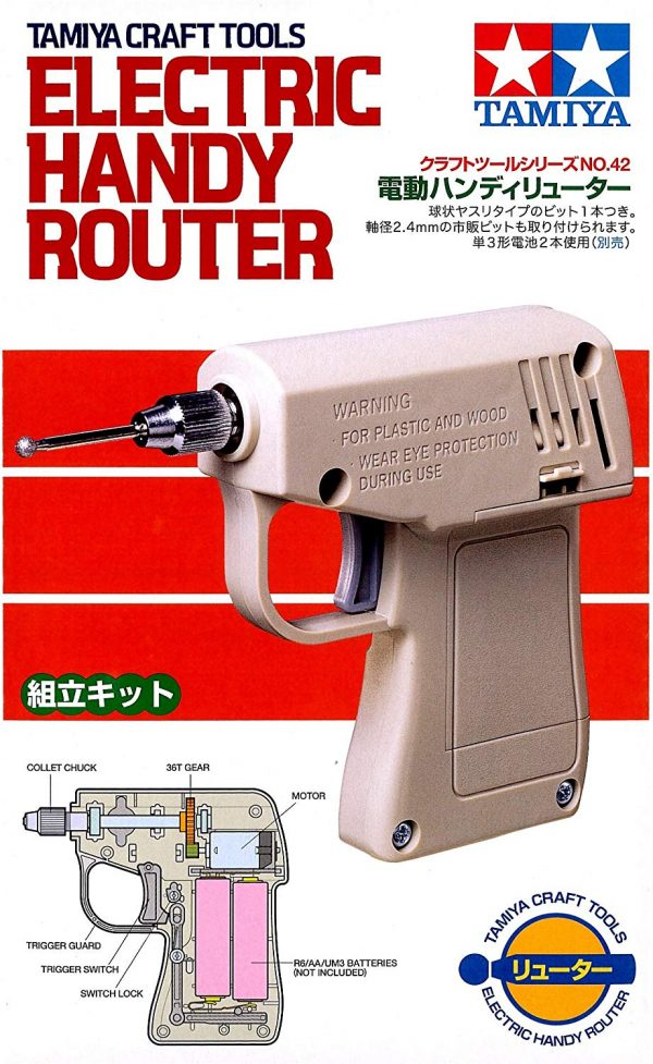 Box Tamiya Electric Handy Router Assembly type 74042