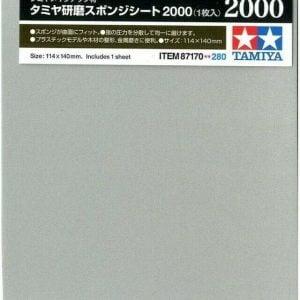 Tamiya Sanding Sponge Sheet 2000 Grit 87170