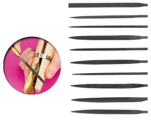 Vallejo Hobby Tool Set of 10 Medium Needle Files T03001