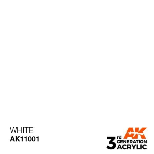 AK Interactive Acrylic White Intense 11001