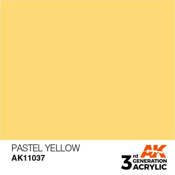 AK Interactive Acrylic Yellow Pastel 11037
