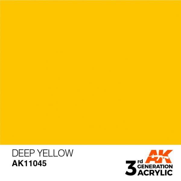 AK Interactive Acrylic Deep Yellow Intense 11045
