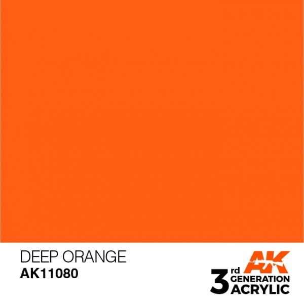 AK Interactive Acrylic Deep Orange Intense 11080