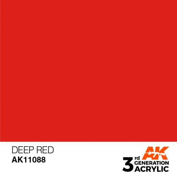 AK Interactive Acrylic Deep Red Intense 11088