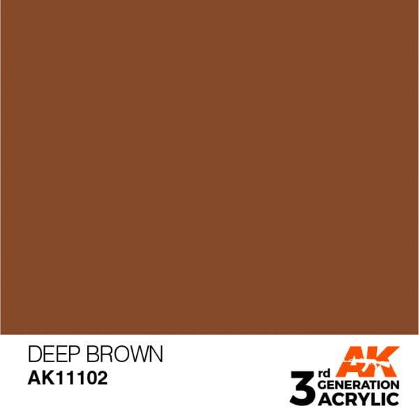 AK Interactive Acrylic Deep Brown Intense 11102