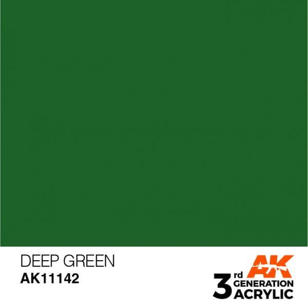 AK Interactive Acrylic Deep Green Intense 11142