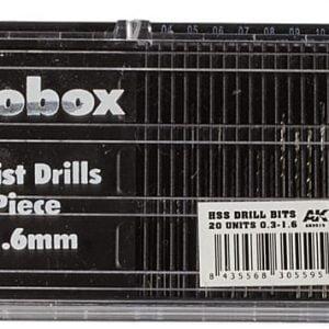 AK Interactive Microbox HSS Drill Bits 0.3 to 1.6 AKI 9015