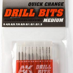 AK Interactive Drill Bits 0.4 to 1.3 AKI 9043