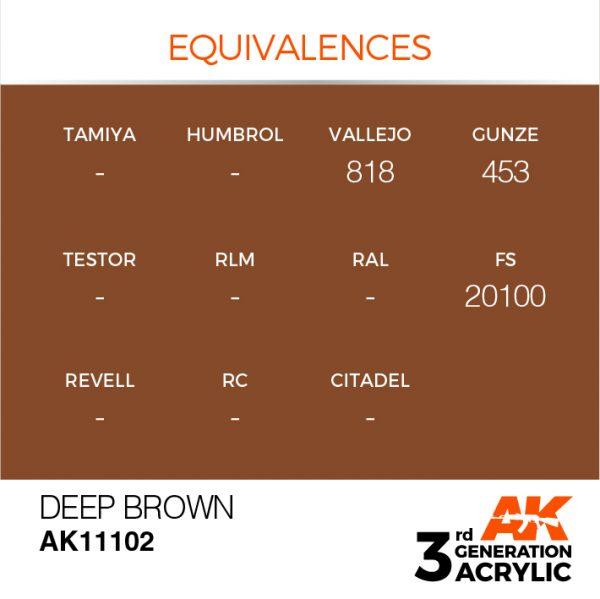 EQUIVALENCES AK Interactive Acrylic Deep Brown Intense 11102