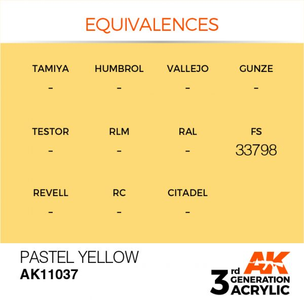 EQUIVALENCES AK Interactive Acrylic Yellow Pastel 11037