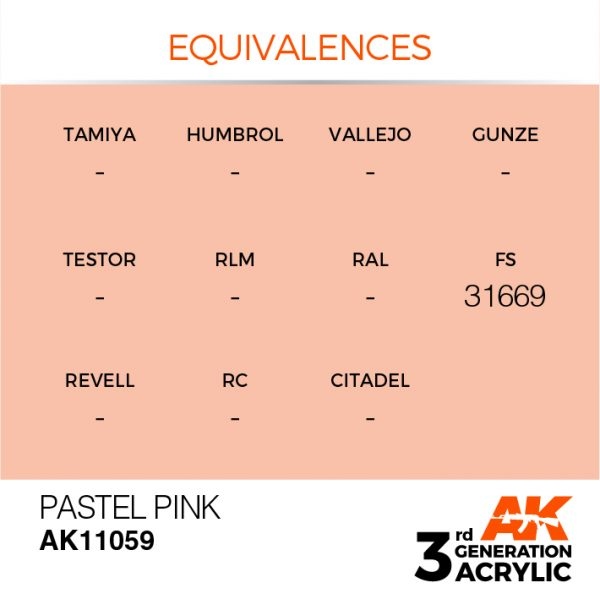EQUIVALENCES AK Interactive Acrylic Pink Pastel 11059