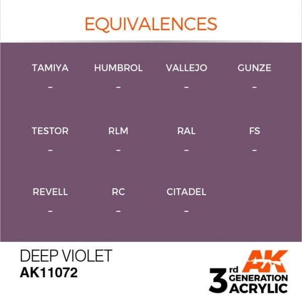 EQUIVALENCES AK Interactive Acrylic Deep Violet Intense 11072