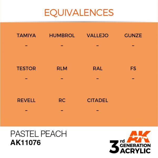 EQUIVALENCES AK Interactive Acrylic Pastel Peach Pastel 11076