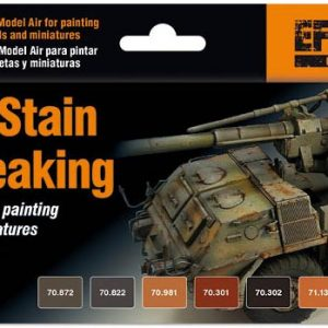 Vallejo Rust Stain and Streaking Setr of 8 Paints 70183