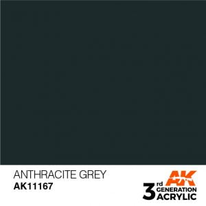 AK Interactive Acrylic Anthracite Standard 11167
