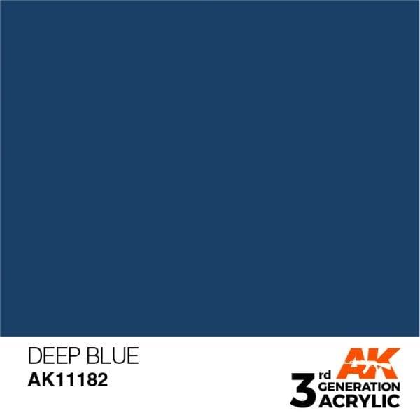 AK Interactive Acrylic Deep Blue Intense 11182