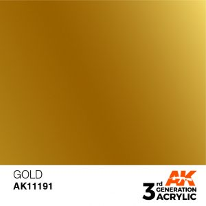 AK Interactive Acrylic Gold Metallic 11191