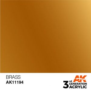 AK Interactive Acrylic Brass Metallic 11194