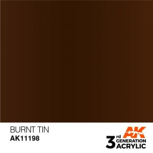 AK Interactive Acrylic Burnt Tin Metallic 11198