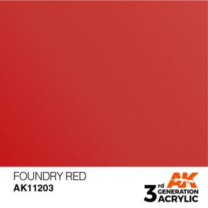 AK Interactive Acrylic Foundry Red Metallic 11203